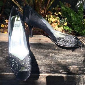 Stuart Weitzman Lace Formal Satin Shoes